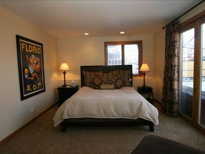Master Suite with King Bed, Private Full Bathroom, Hot Tub and Patio