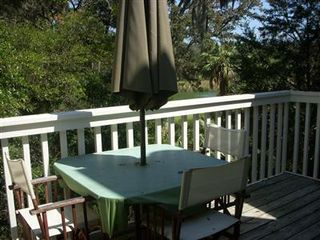 Bald Head Island condo photo - have a meal overlooking the course