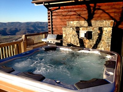 Carolina Cabin Rentals Cloud 9 New Bull Frog Spa Overlooking the View