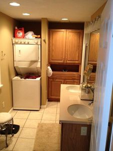 first floor bath with washer and dryer