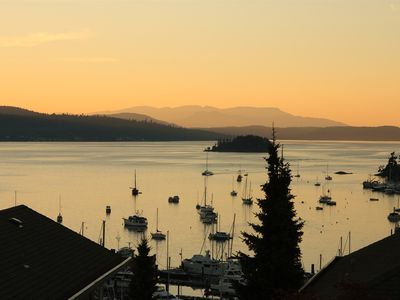 Sunset over Brentwood Bay