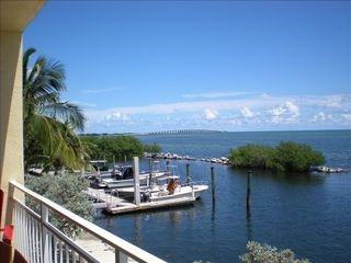 Long Key condo photo - 30 Foot Boat Slip and Channel #5 Bridge in the Background