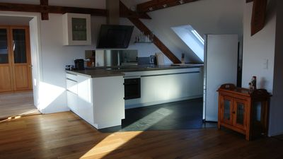 Extravagant attic apartment 100sqm for up to 6 people centrally in Nuremberg