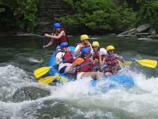 Harpers Ferry house photo - family level whitewater rafting on the Shenandoah River with River Riders