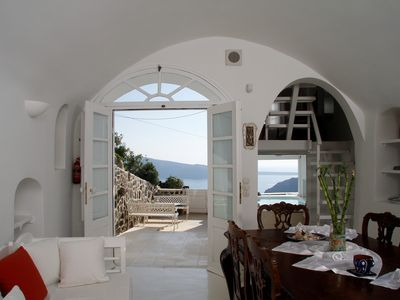 Greek Island Villa with a Jacuzzi and Great Views