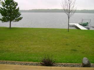 Walker cabin photo - View from the deck out to the lake.