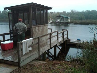 Fish Cleaning House and Private Dock