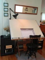 North Stonington house photo - Get creative on the architect's drafting table with plenty of light-day or night