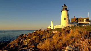 Pemaquid Beach house photo - Pemaquid Point light house, a short distance from the house
