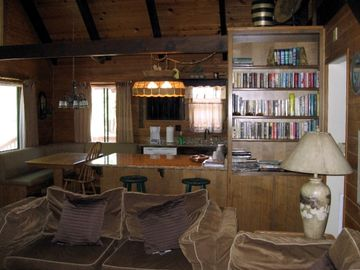 Pinetop cabin rental - Downstairs view