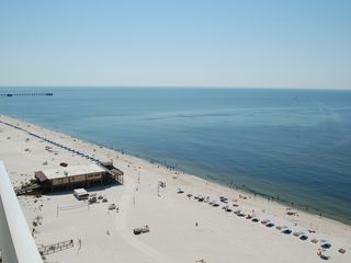 Gulf Shores condo photo - view from balcony looking east, Sea & Suds restaurant below