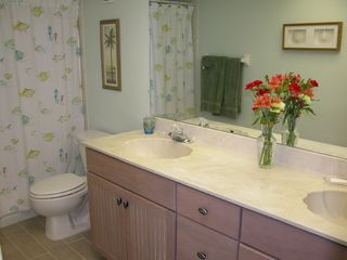 Redington Shores condo photo - Master bathroom w double sinks