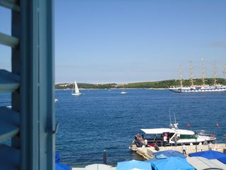Rovinj City apartment photo - view on the islands and the sea from Bedroom 1 - enjoy the sun!