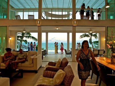 Providenciales - Provo villa rental - cocktail parties, a great way to start your vacation, we can arrange !