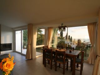Caleta de Velez villa photo - Dinning room. Sea views.