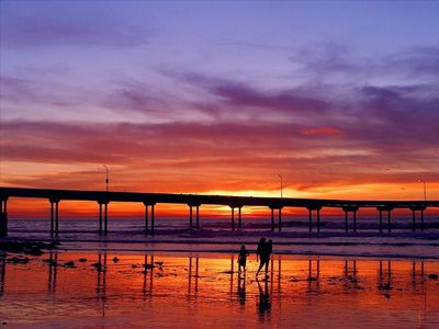 Stroll along the beach near Ocean Beach Pier for a sunset or two...