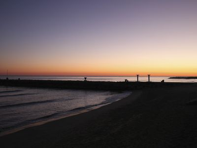 Sitges Town apartment rental - sunset in sitges