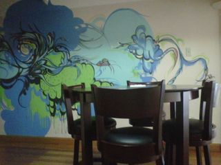 Sofia Maldonado's mural in the dining area (sofiamaldonado.com) - San Juan apartment vacation rental photo