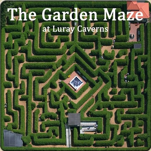 The Garden Maze at Luray Caverns 15 Miles from Property