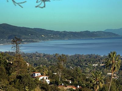 Santa Barbara house rental - View toward Ventura