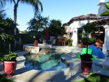 S/W backyard with heated pool/spa waterfall