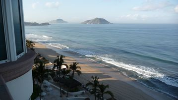 View from balcony (7th floor) South towards Mazatlan's three islands.