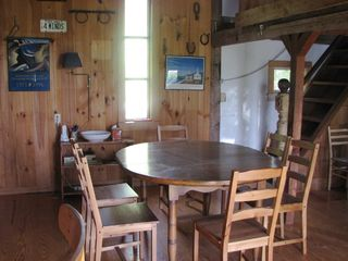 Chilmark cottage photo - Dining Room with back view of Barn