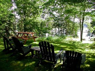 Lubec cottage photo - Relaxing in the yard