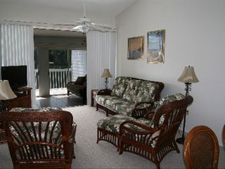 Bradenton condo photo - Main living area has wonderful view of water!