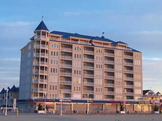 Belmont Towers Ocean City condo photo - Unit 802 - top floor, 2nd curved front window from left