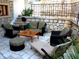 Dubrovnik villa photo - Relax on the spacious terrace just off of the summer kitchen.