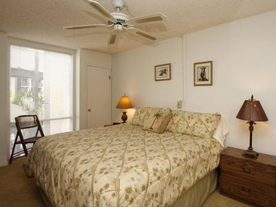 Large bedroom with DVD/VCR player and A/C for a realxing night w/privacy.