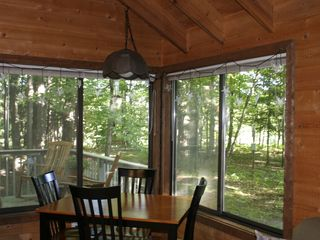 Crystal Mountain, Thompsonville cabin photo - Watch the birds while having coffee in the morning