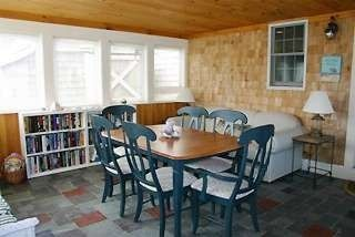 Enclosed porch/ dining room.