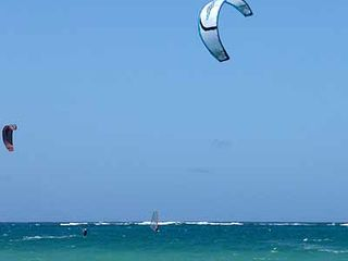 San Juan house photo - Windsurfing & kitesurfing are very popular. Note offshore reef protects beach.