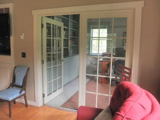 Rumney farmhouse photo - The office has room to work, many books, DVDs and games.