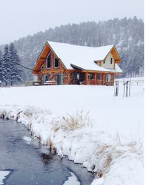 Hill City cabin rental - Ski and snowmobile season coming soon. Snowed at the cabin.