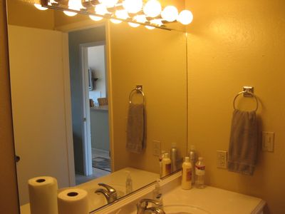 Watsonville condo rental - Master bath with shower