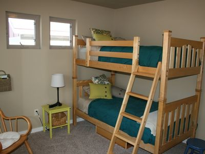 Bedroom three, with a set of twin bunks.