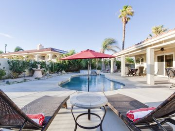 Desert Hot Springs house rental - Pool - Who wouldn't want this view? Pool paradise