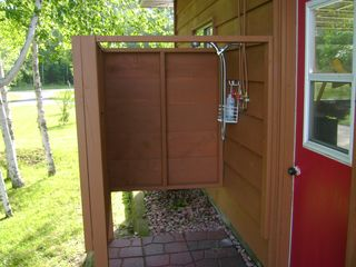 Walker cabin photo - Outdoor shower which now has a door!!