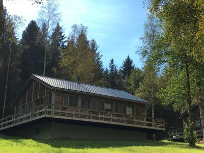 """The fagnes, the woods, the lake and the circuit available!  Chalet """"Le Voyageur"""""""