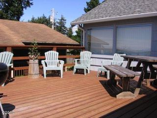 Large ocean view deck complete with BBQ - Lincoln City house vacation rental photo