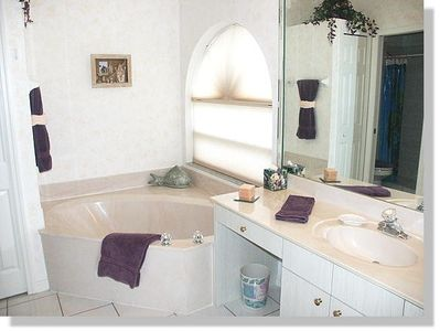 Master bathroom of the Villa in Cape Coral, Florid