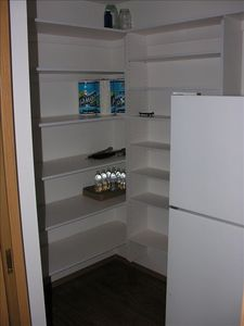 Pantry room next to kitchen.