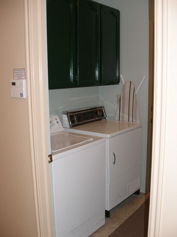 Laundry area, ironing board etc.
