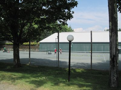 Indoor/outdoor tennis courts throughout the property. Top 50 tennis resort in US