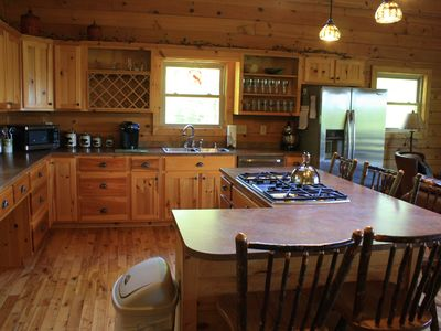 Maggie Valley lodge rental - Gourmet Kichen with double oven and gas cooktop