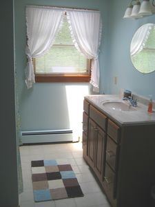 Bright 1st floor full bath w/skylight; adjacent to master BD.