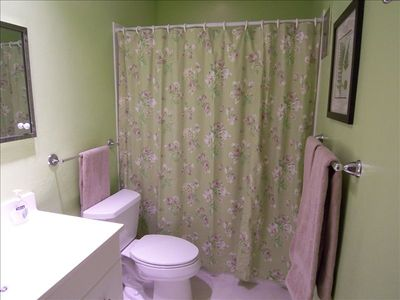 Naples condo rental - Guest bathroom (walk-in shower)